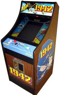 1942 ARCADE VIDEO GAME WITH LOTS OF NEW PARTS, VERY SHARP