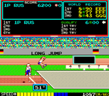 TRACK AND FIELD ARCADE  WITH LOTS OF NEW PARTS- EXTRA SHARP