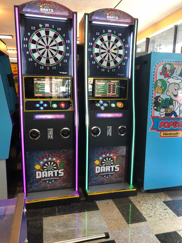 Dart Machine-Take Aim Dart Deluxe Version with LED Lights On The Sides- Coin Operated, Brand New, Sharp