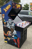 X-Men Arcade 4 player- Lots Of New Parts-New LCD Monitor