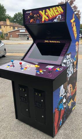 X Men Arcade 4 Player Lots Of New Parts New Lcd Monitor