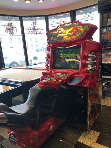 Fast & Furious Super Bike Sit Down Arcade Game By Raw Thrills, Refurbished , LCD Monitor, Sharp-Delivery time 6-8 weeks