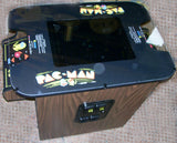 PACMAN COCKTAIL ARCADE , PLAYS MS PACMAN AND GALAGA TOO-FREE SHIPPING- 1 YEAR PARTS WARRANTY
