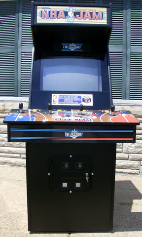 NBA Jam Arcade with lots of new parts-Looks new, extra sharp ...