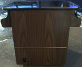 MS PACMAN COCKTAIL ARCADE IN WALNUT , PLAYS MS PACMAN AND GALAGA TOO-FREE SHIPPING- 1 YEAR PARTS WARRANTY