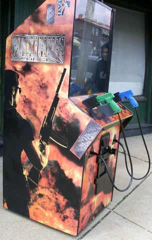 MAXIMUM FORCE GUN GAME ARCADE- EXTRA SHARPS WITH LOTS OF NEW PARTS