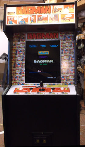 BAG MAN ARCADE GAME WITH LOTS OF NEW PARTS- EXTRA SHARP-Delivery time 6-8 weeks