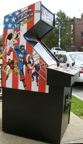 CAPTAIN AMERICA ARCADE WITH A LOTS OF NEW PARTS- EXTRA SHARP