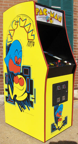 PACMAN ARCADE WITH A LOTS OF NEW PARTS-LOOKS LIKE A BRAND NEW GAME