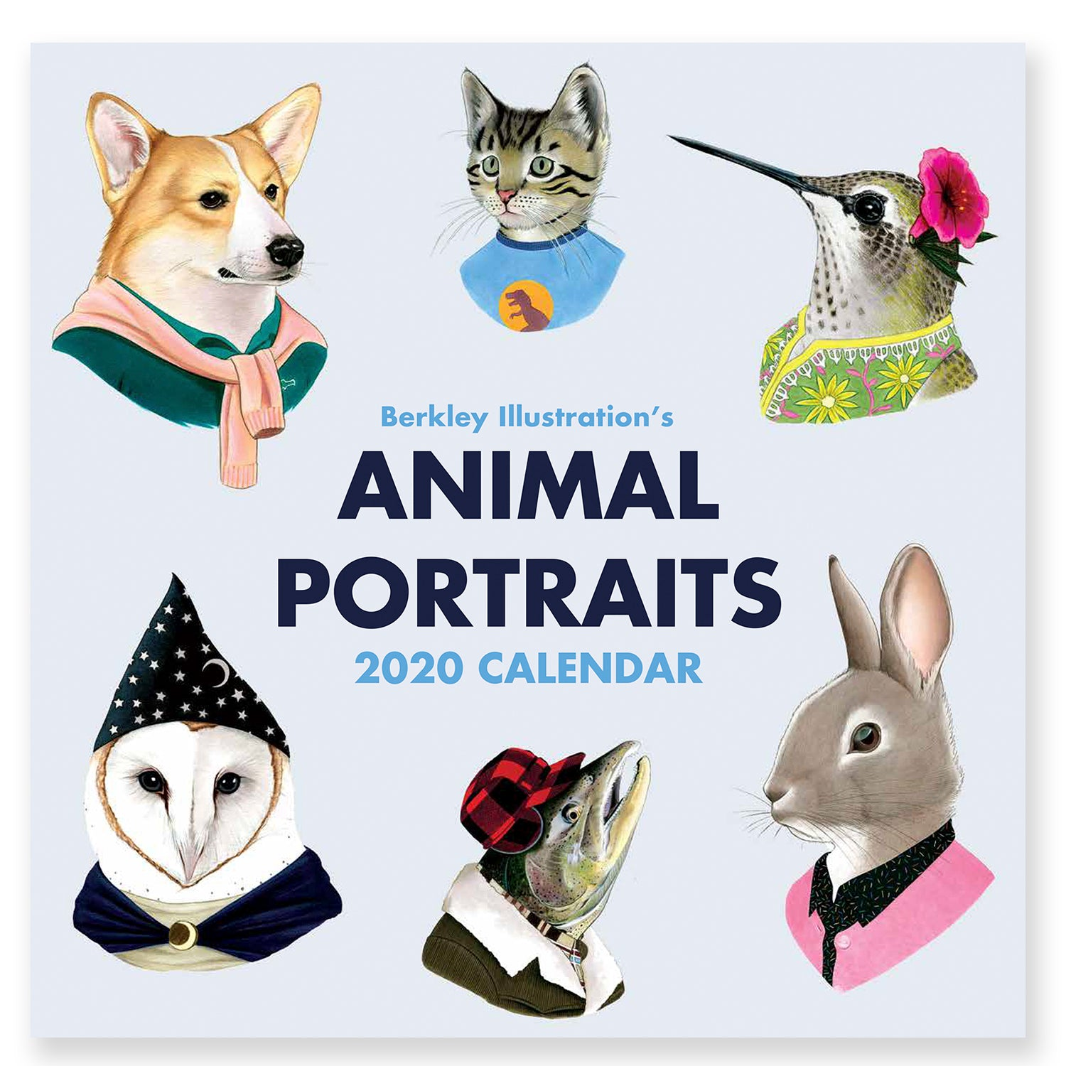2020 Wall Calendar - Animal Portraits by Ryan Berkley