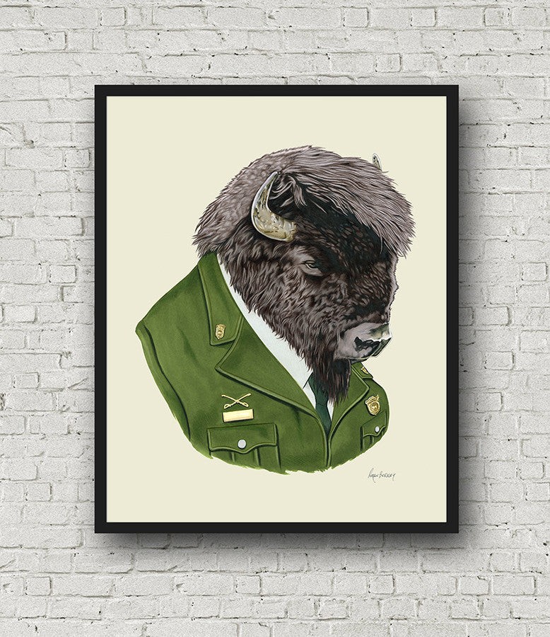 Oversized Bison Print - 16x20 or 20x28 inches