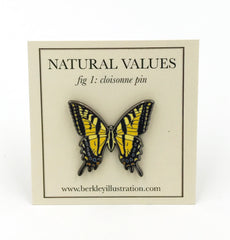 Enamel Pin - Butterfly - Natural Values