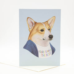 Greeting Card - You're Simply The Best - Corgi