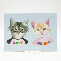 Happy Birthday Card - Party Kittens