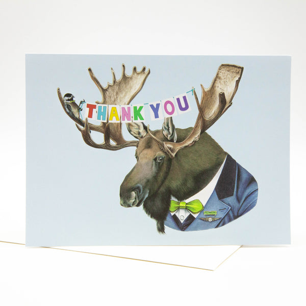 Thank You Card - Moose
