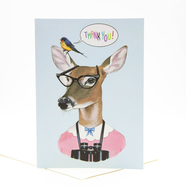 Thank You Card - Deer
