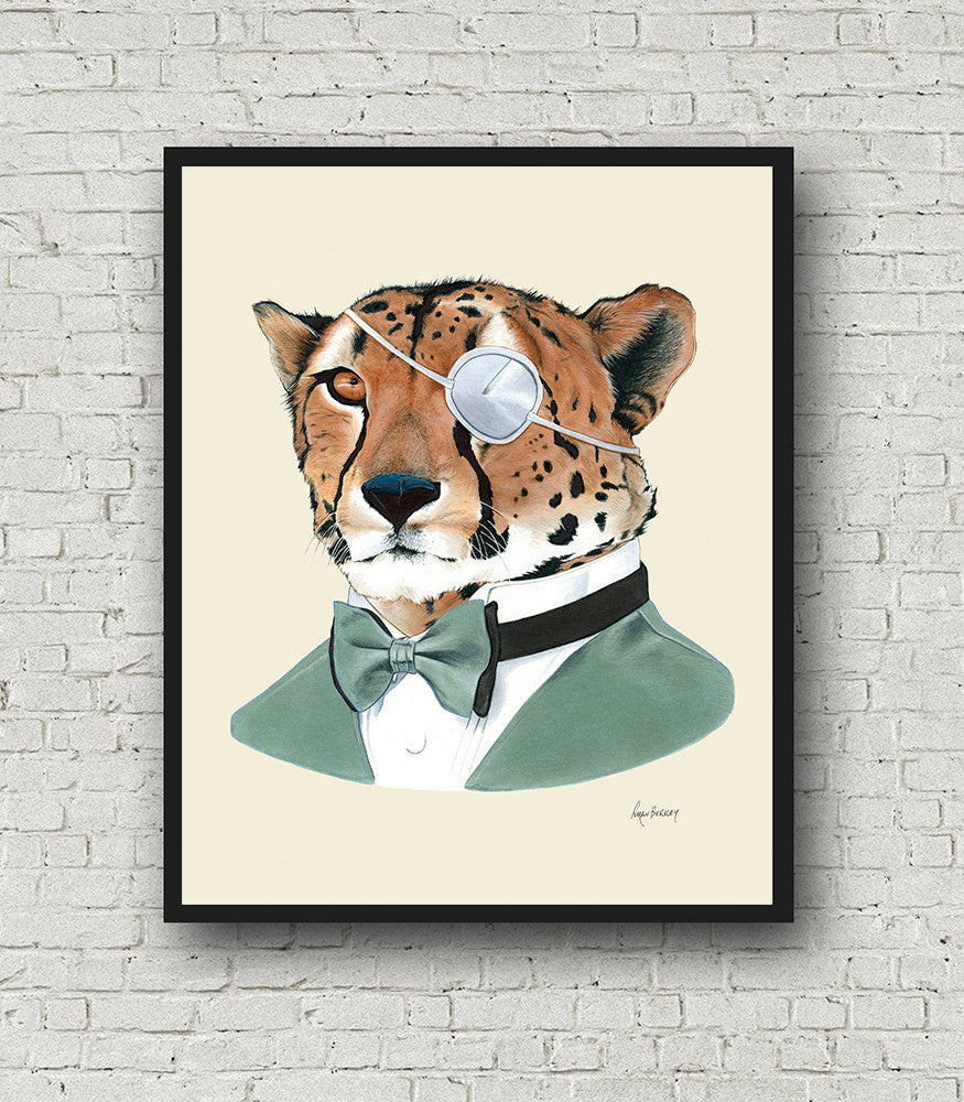 Oversized Cheetah Gentleman Print - 16x20 or 20x28 inches
