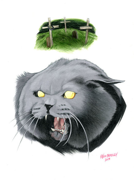 Church The Zombie Cat - Cinematic Fauna Limited Edition Art Print