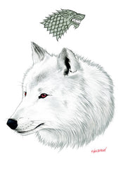 Ghost The Direwolf - Cinematic Fauna Limited Edition Art Print