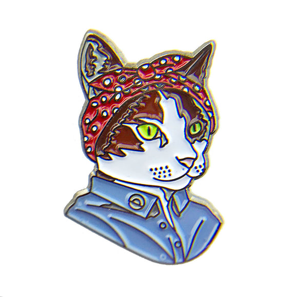 Enamel Pin - Feminist Cat