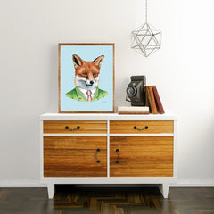 Oversized Fox Gentleman Print - 16x20 or 20x28 inches