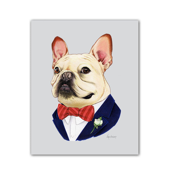 Dog art print - French Bulldog