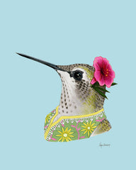 Hummingbird Lady Art Print