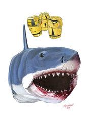 Jaws The Shark - Cinematic Fauna Limited Edition Art Print