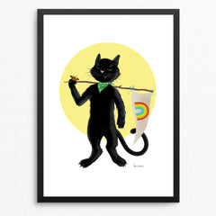"""Proud Cat"" - June 2019 - Charitable Limited Edition Art Print"