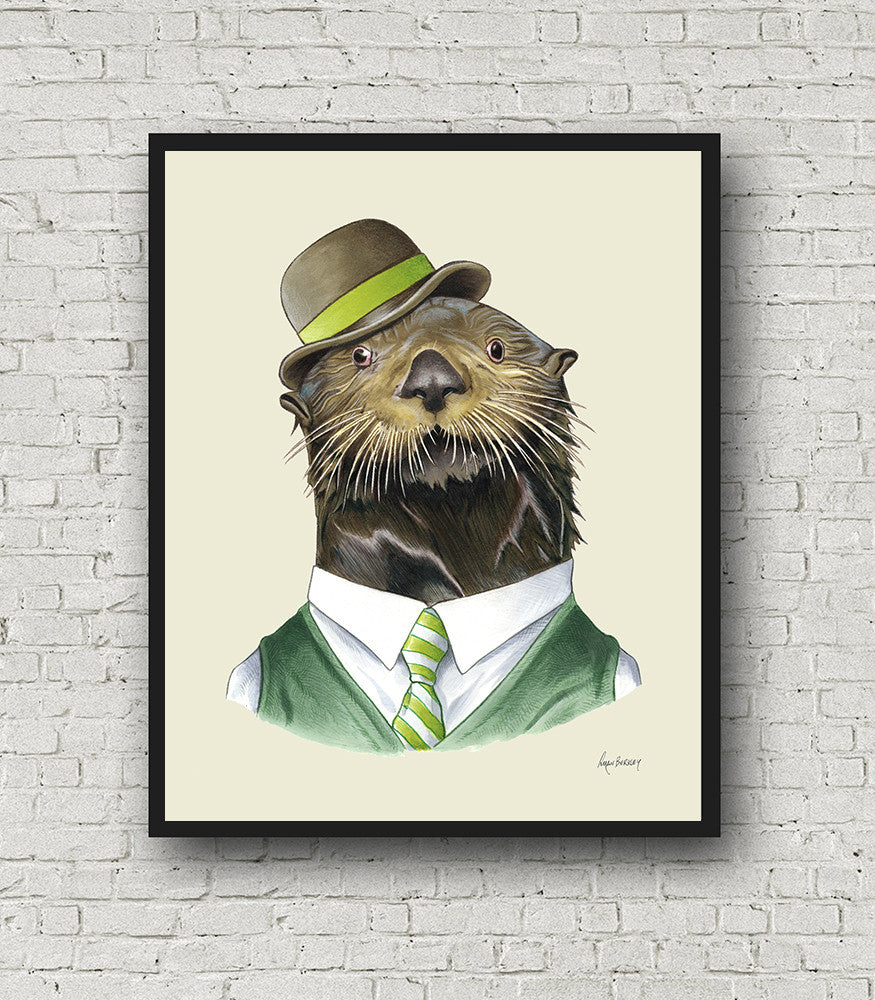 Oversized Otter Gentleman Print - 16x20 or 20x28 inches