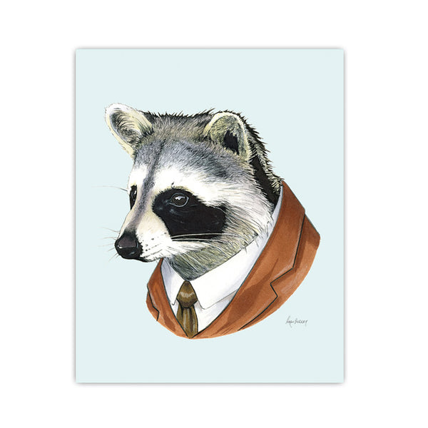Raccoon Gentleman Art Print