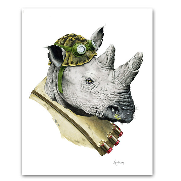 TMNT: Rocksteady Limited Edition Art Print