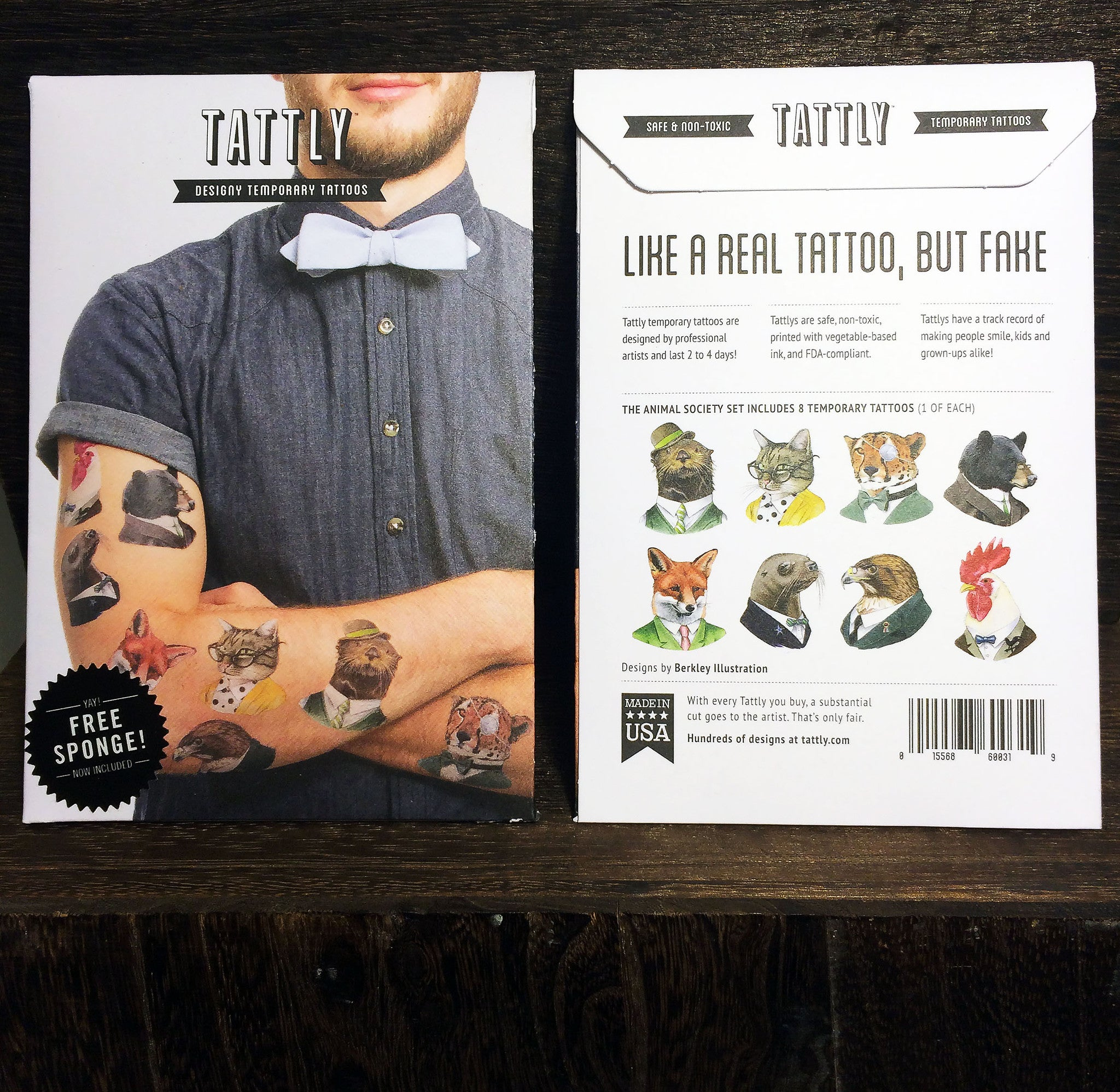 Temporary Tattoos - Animal Society Pack by Tattly – Berkley Illustration