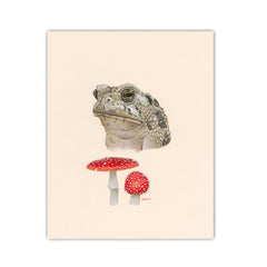 Toad / Toadstool - Naked Animals Print