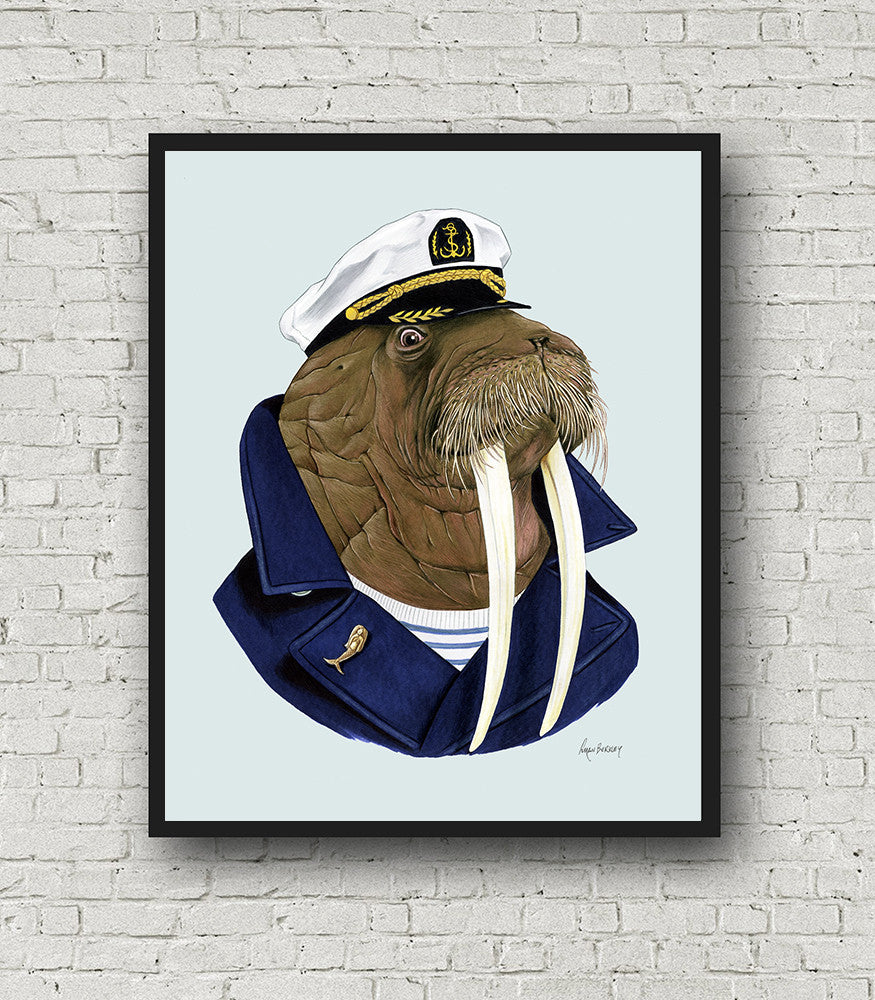 Oversized Walrus Print - 16x20 or 20x28 inches