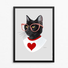 Cat art print - American Heart Association Exclusive