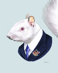 Squirrel art print - Albino Gentleman