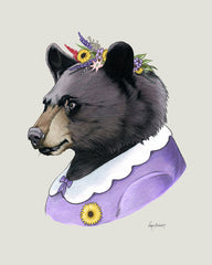 Bear Art Print - Black Bear Lady