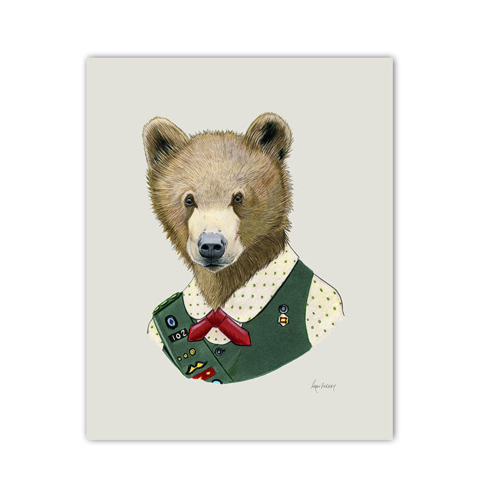 Bear Art Print - Scout Bear