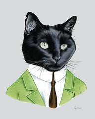 Cat Art Print - Black Cat Gentleman