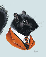 Squirrel art print - Black Gentleman