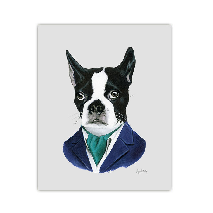 Dog art print - Boston Terrier