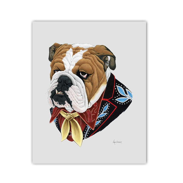 Dog art print - English Bulldog