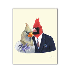 Cardinal Couple Art Print