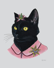 Cat Art Print - Black Cat Lady