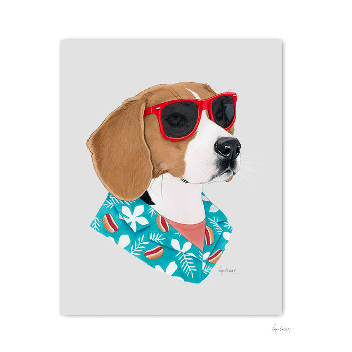 Dog art print - Cool Dog