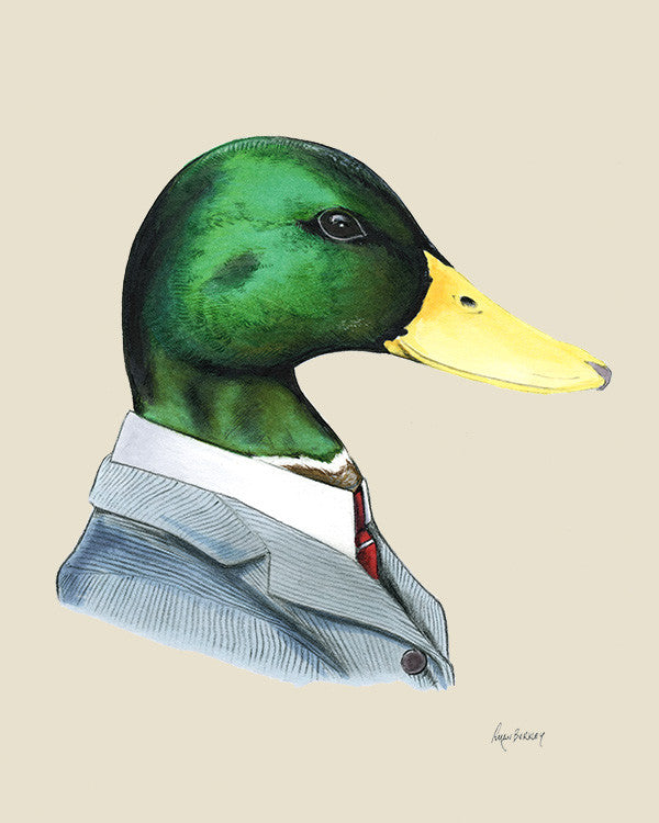 Duck Gentleman Art Print