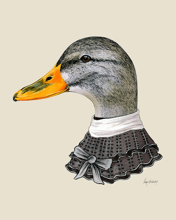 Duck Lady Art Print