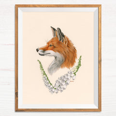 Fox / Foxglove - Naked Animals Print