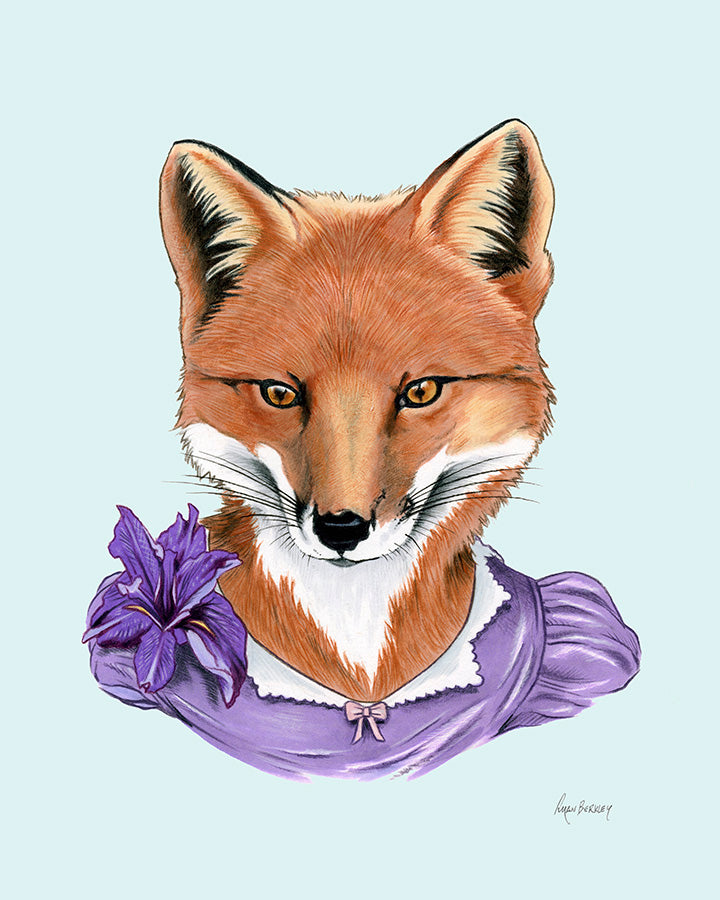 Fox Lady Art Print